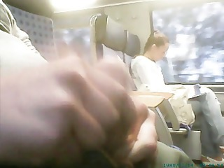 train masturbation in front of russian gal